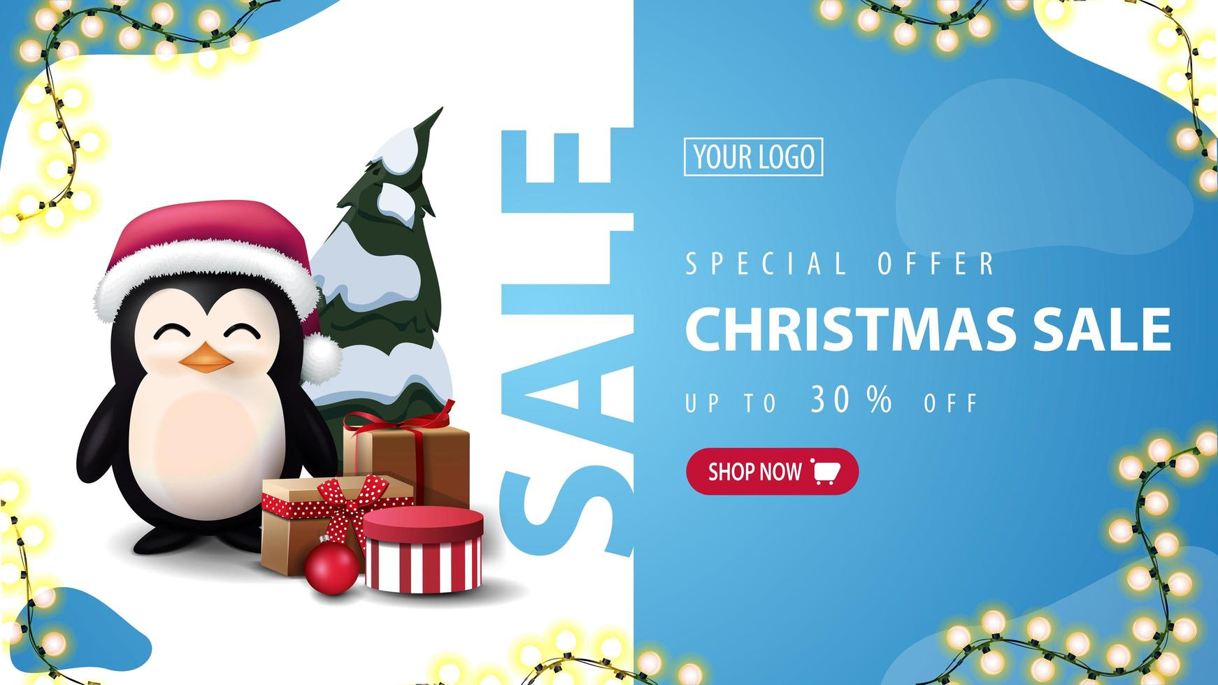 Discount banner with liquid abstract shapes vector