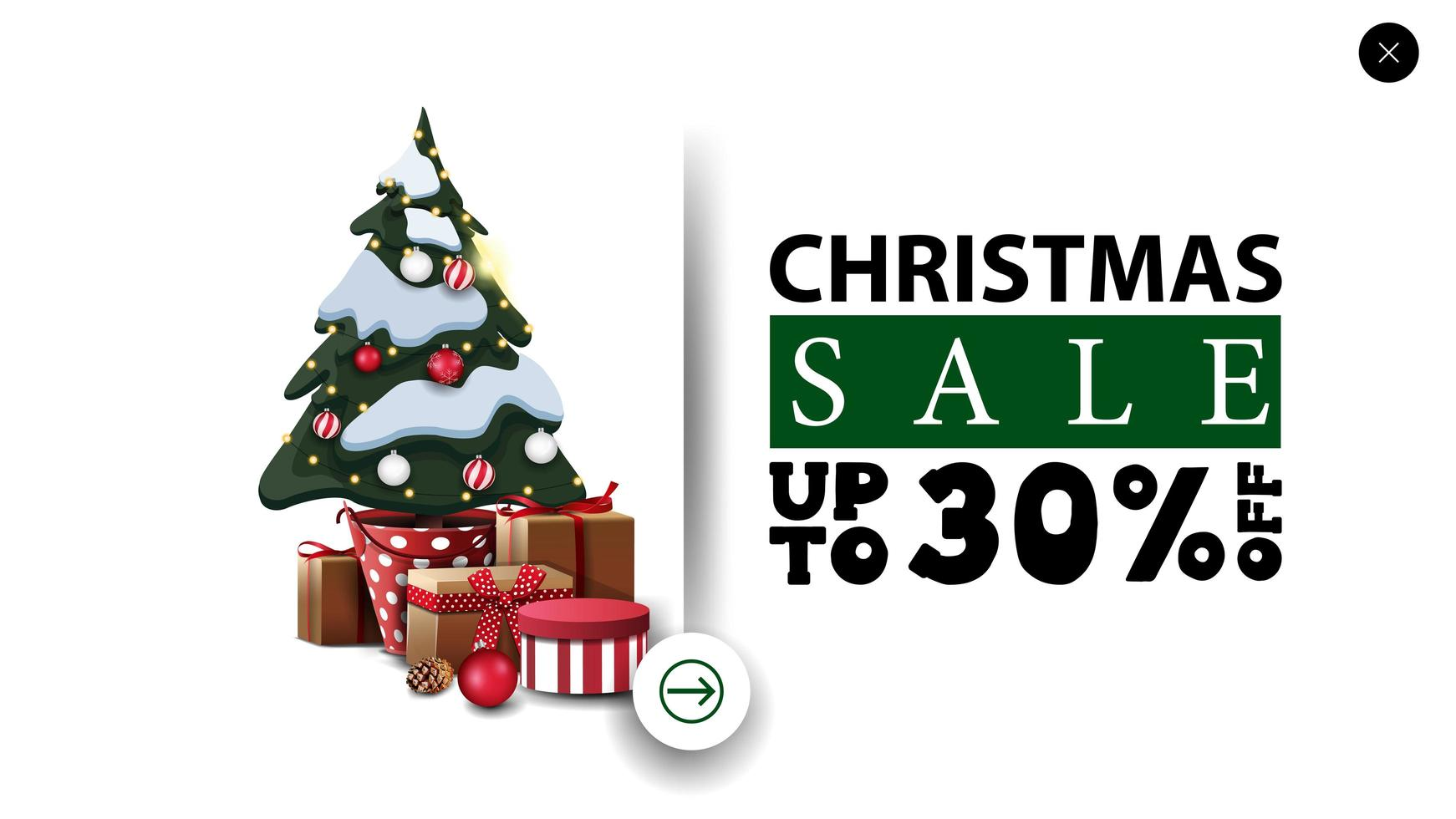 Discount banner in minimalistic style for website vector
