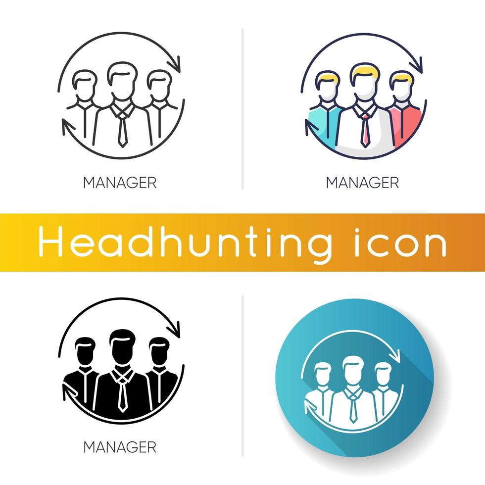 Manager icon set vector