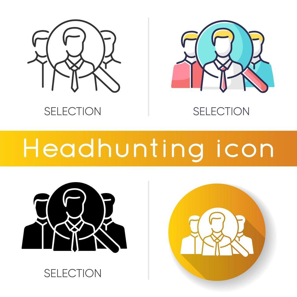 Selection icon set vector