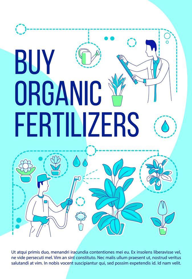 comprar cartel de fertilizantes orgánicos vector
