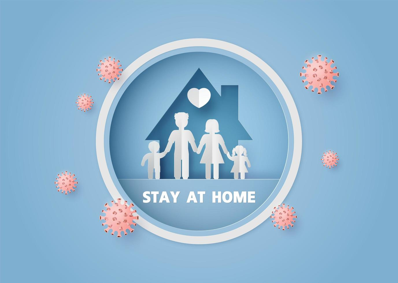 Stay home during the coronavirus epidemic. vector