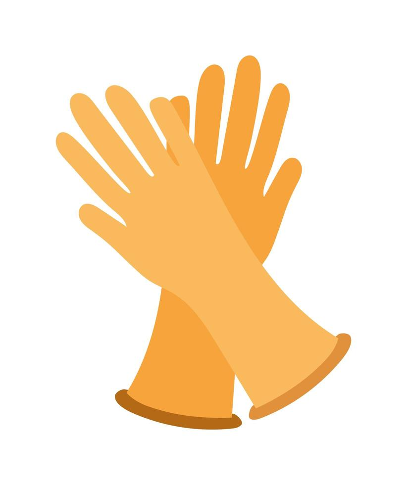 Isolated gloves icon design vector