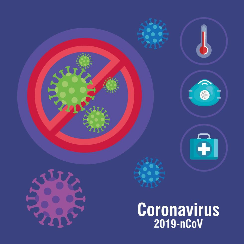 banner de prevención de coronavirus vector