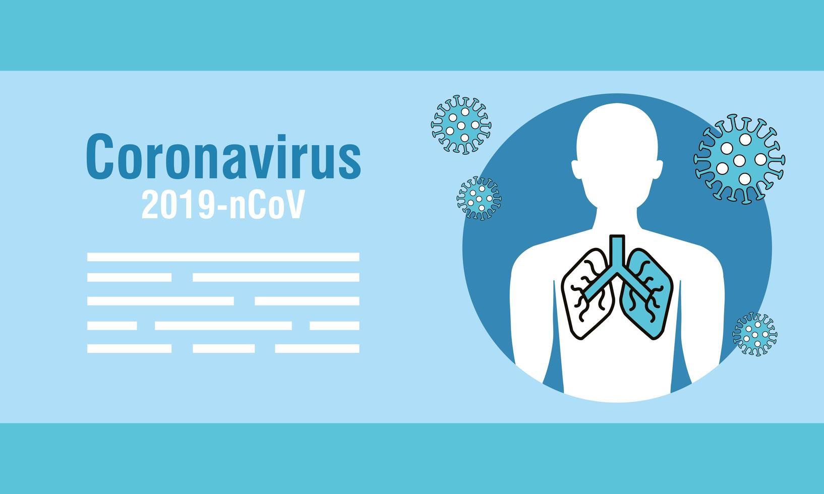 Coronavirus prevention banner vector