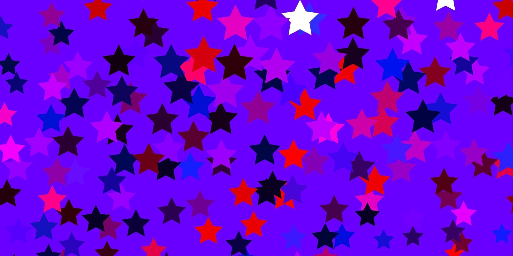 diseño azul claro, rojo con estrellas brillantes. vector