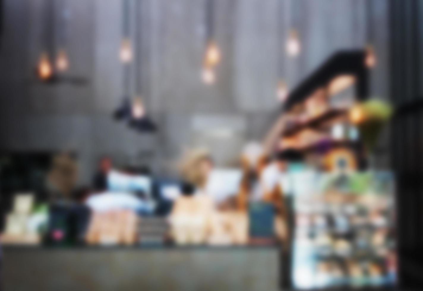 Blurred cafe background photo
