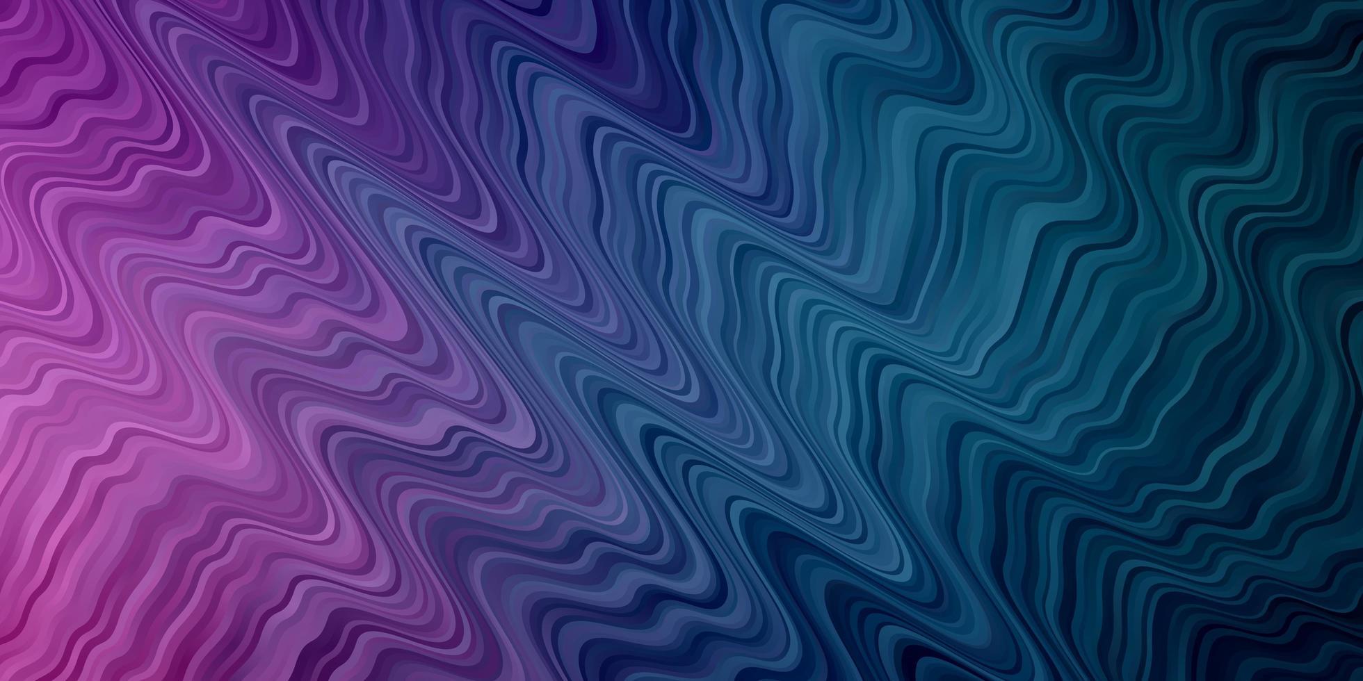 fondo azul claro, rosa con líneas curvas. vector