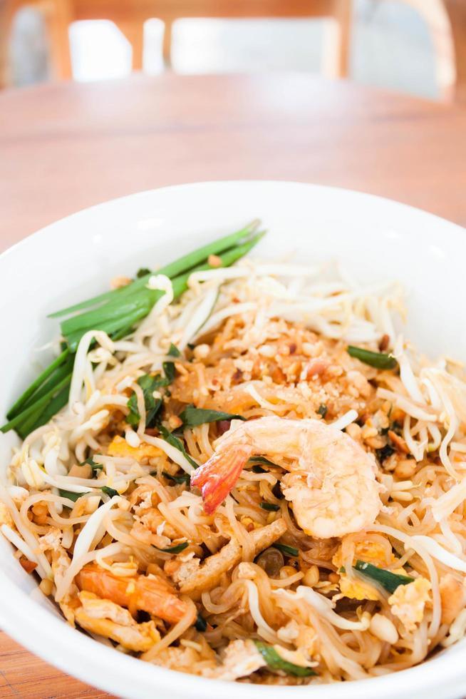 Bowl of shrimp noodles photo