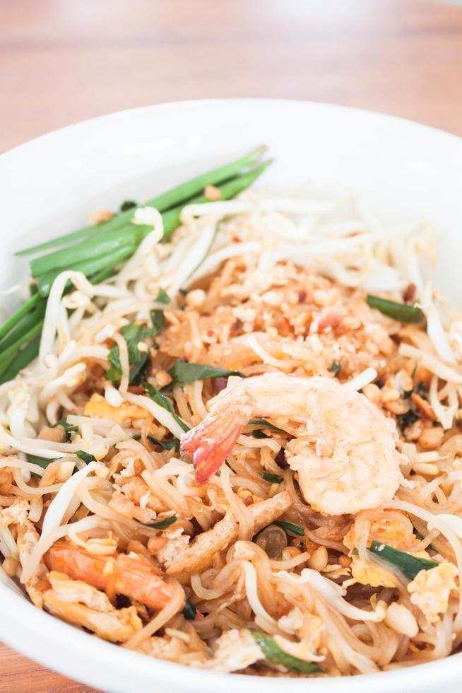 Stir fried noodle dish with shrimp photo