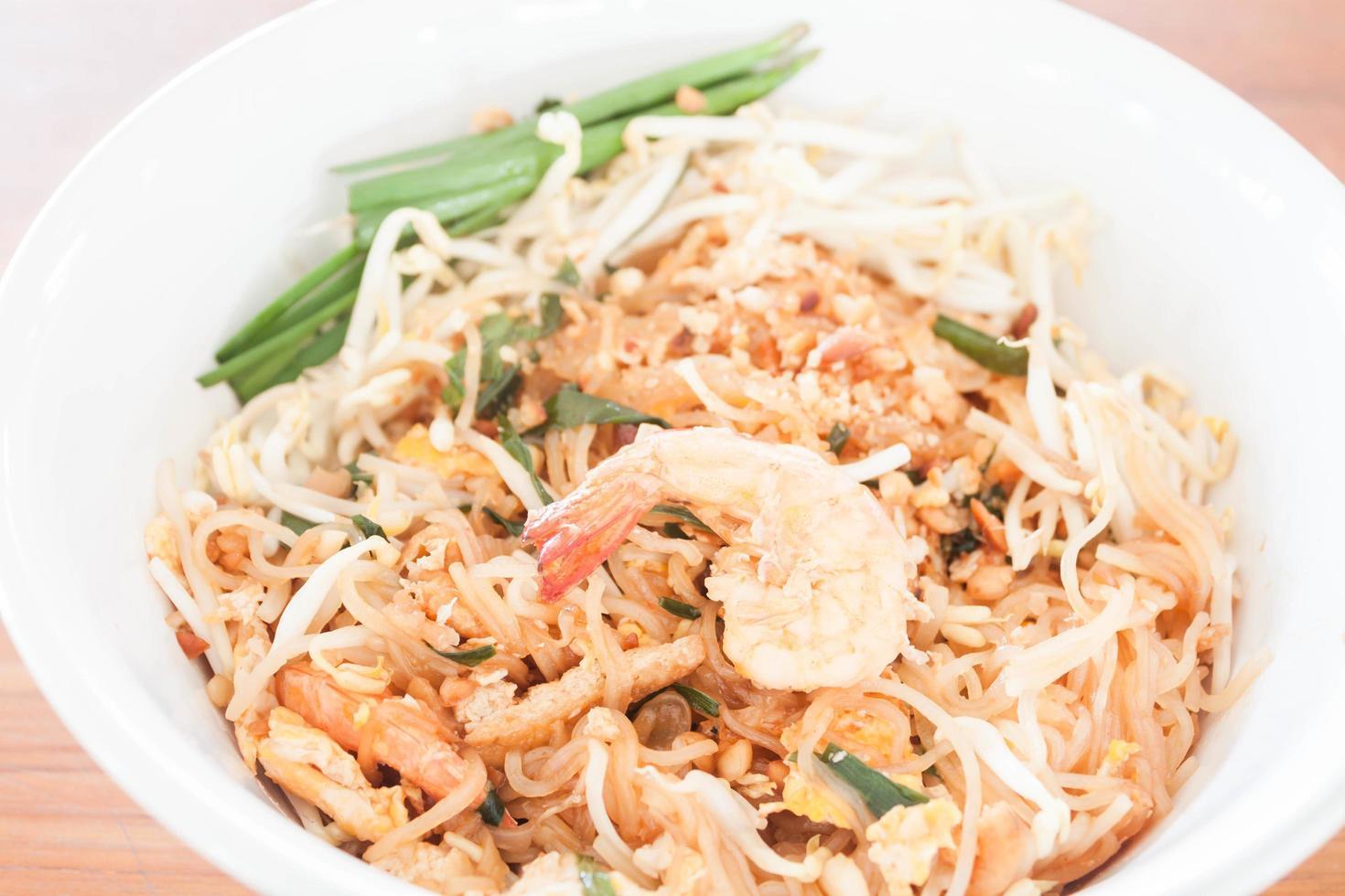 Close-up of a shrimp noodle dish photo