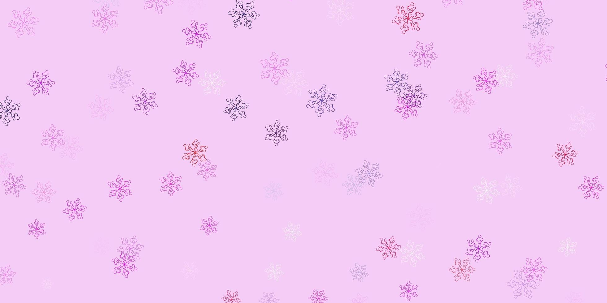 Light purple, pink natural layout with flowers. vector