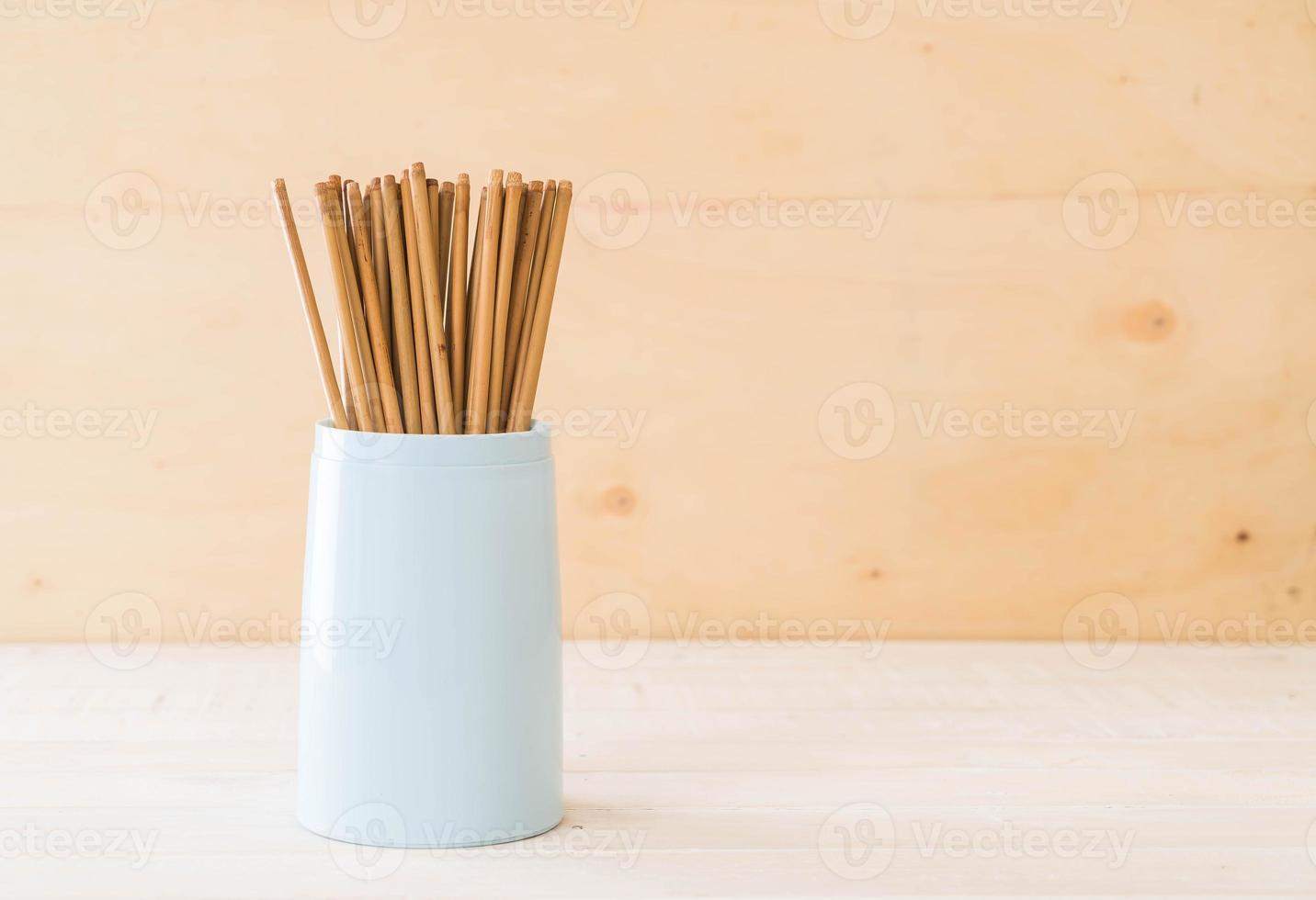 Cutlery holder with chopsticks photo
