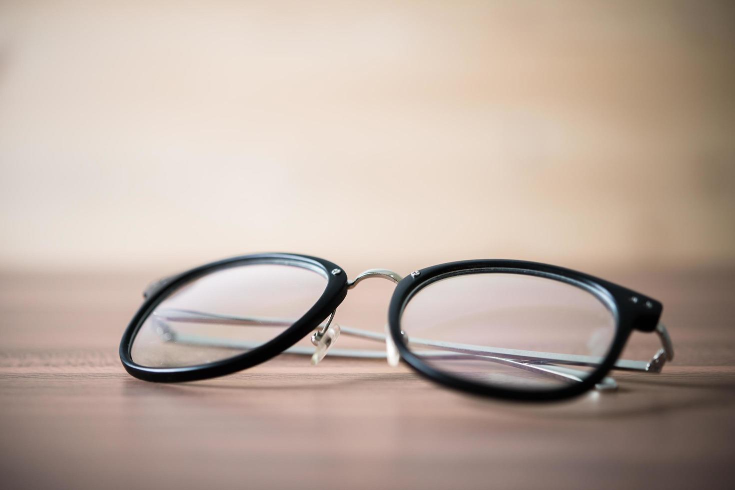 Close-up of black glasses photo