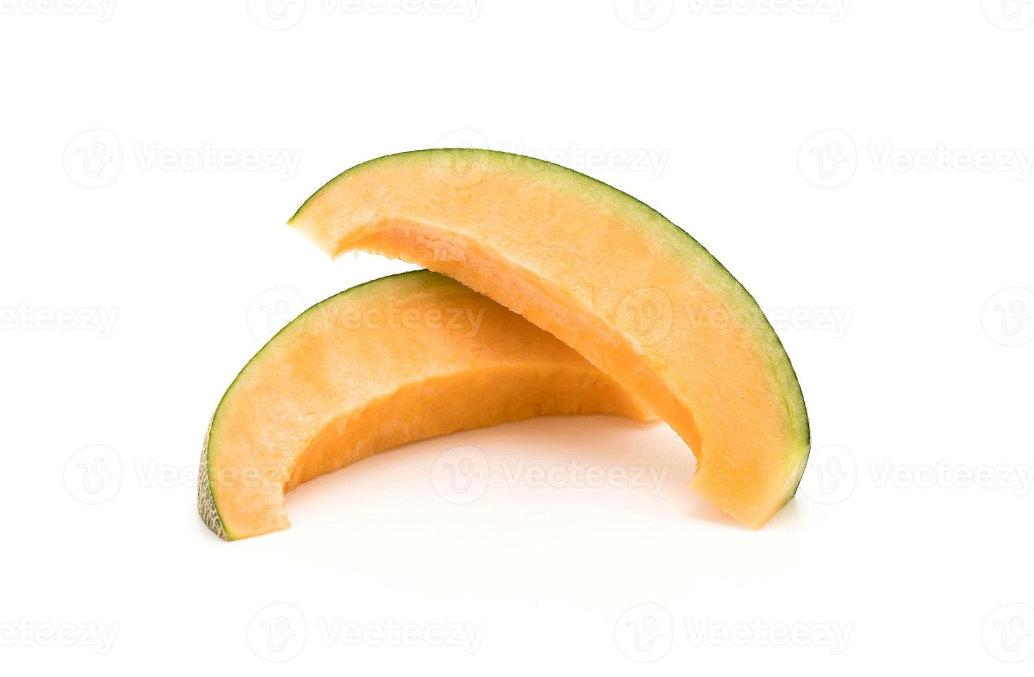 Cantaloupe melon on white background photo