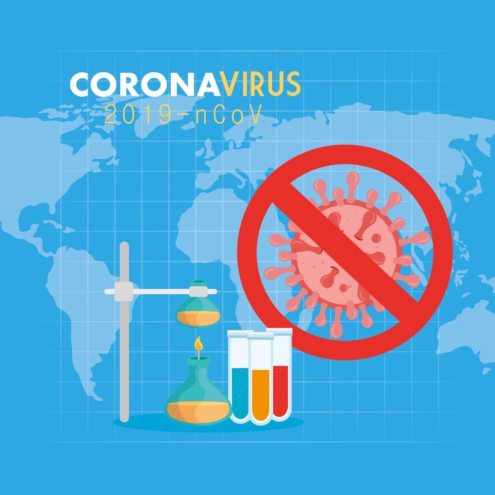 banner médico coronavirus vector