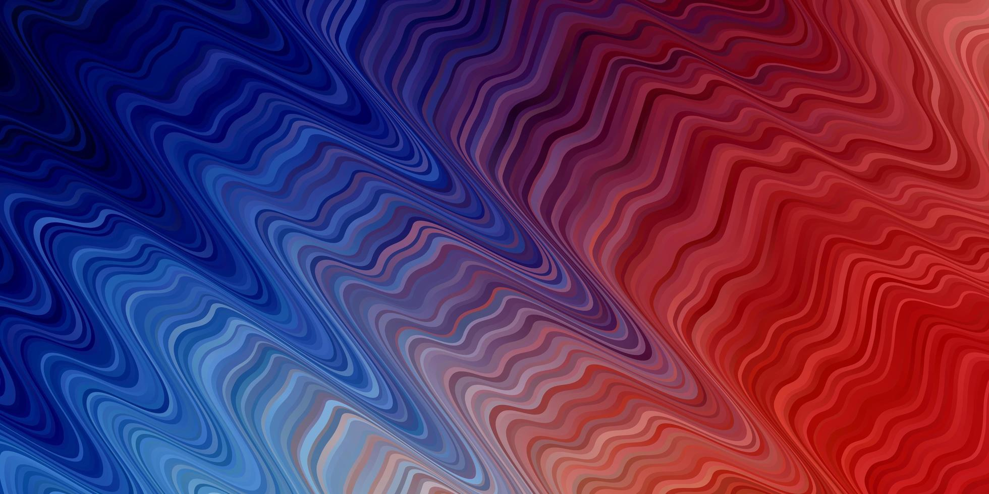 Light blue, red background with wavey lines. vector