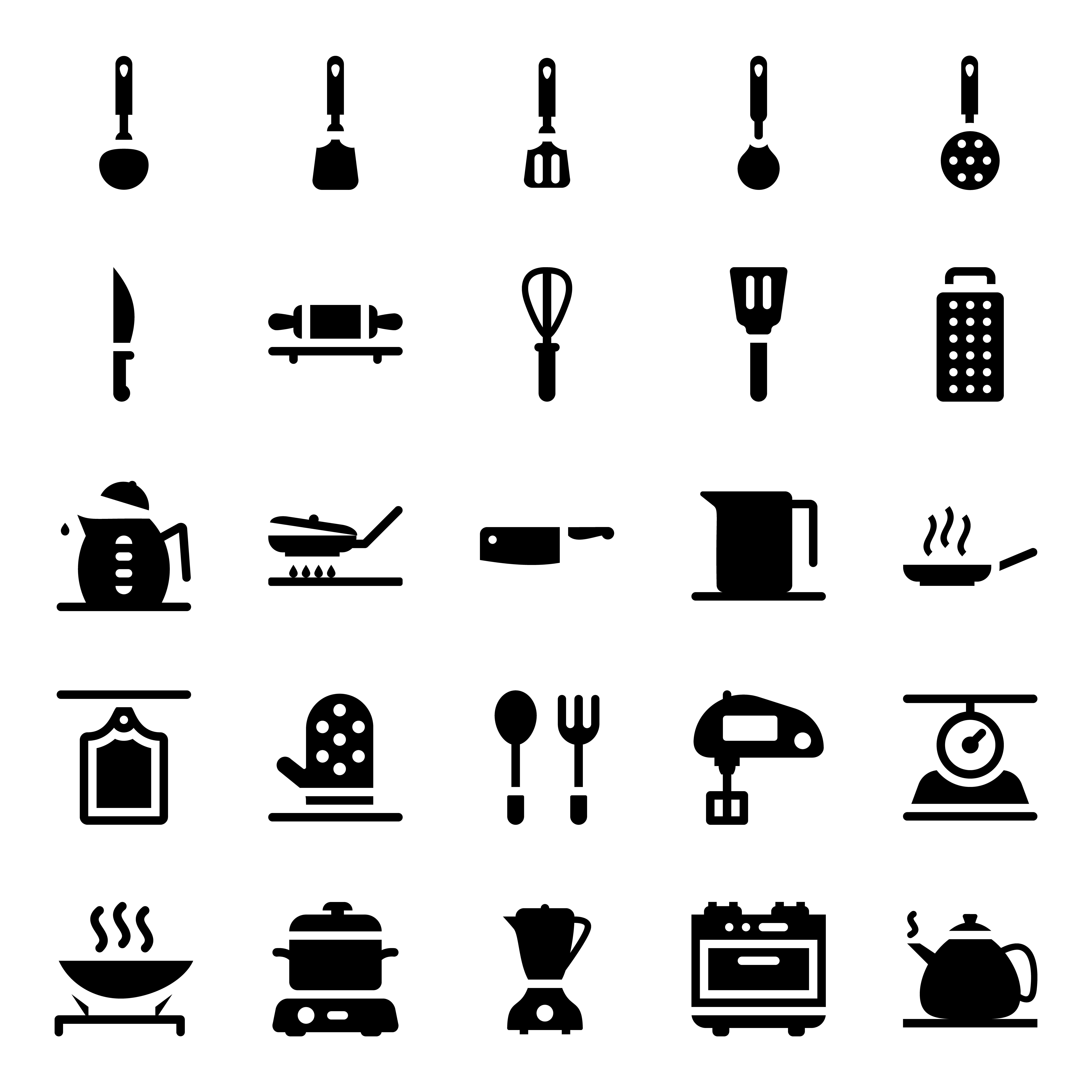 Kitchen Accessories Icons Pack 1784172 Download Free Vectors Clipart Graphics Vector Art