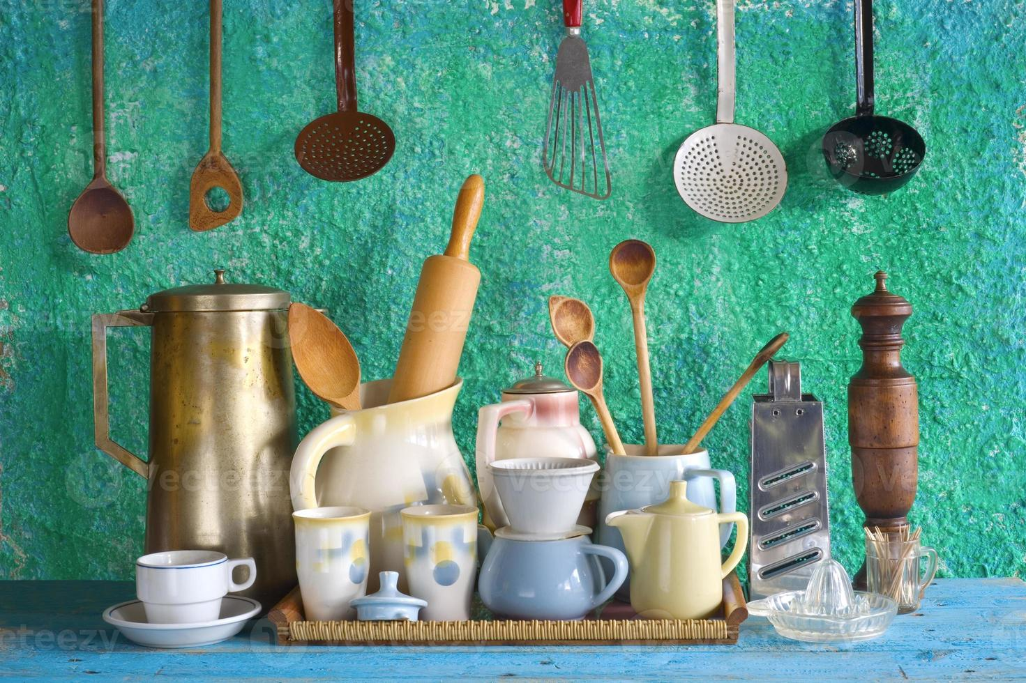 collection of vintage kitchenware photo