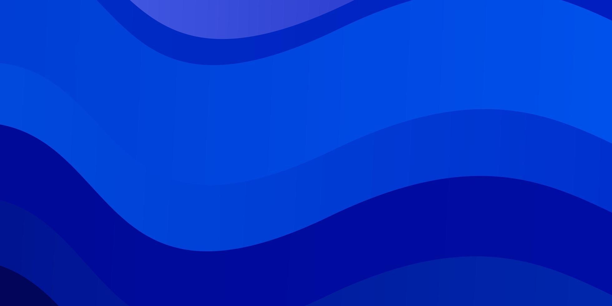 plantilla de vector azul claro con curvas.