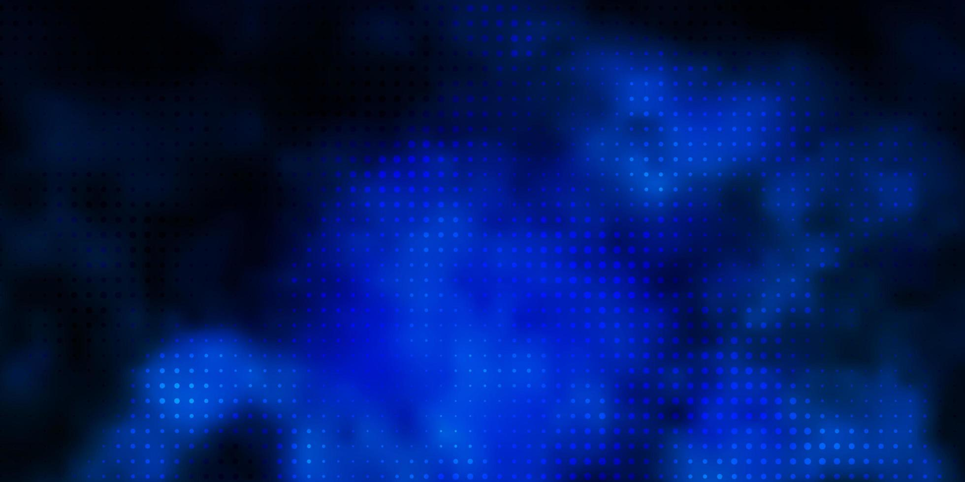 Dark BLUE vector texture with circles.