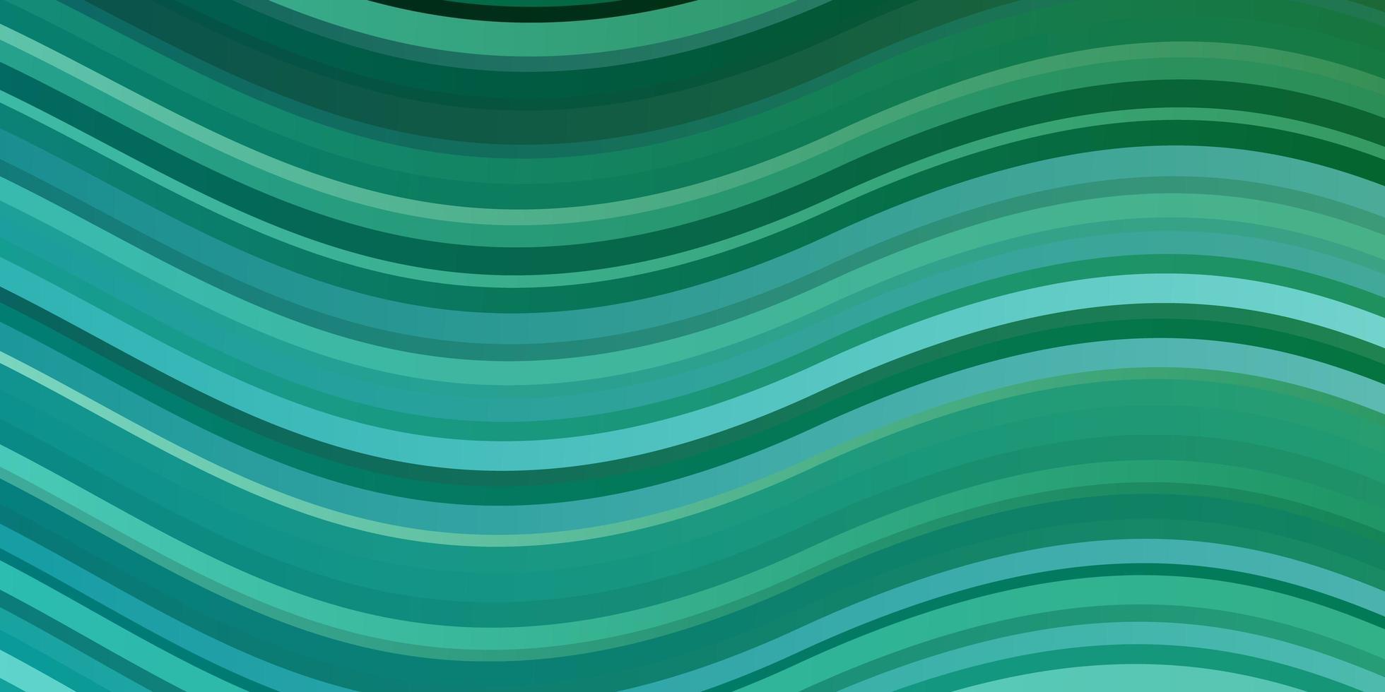 plantilla de vector azul claro, verde con líneas torcidas.