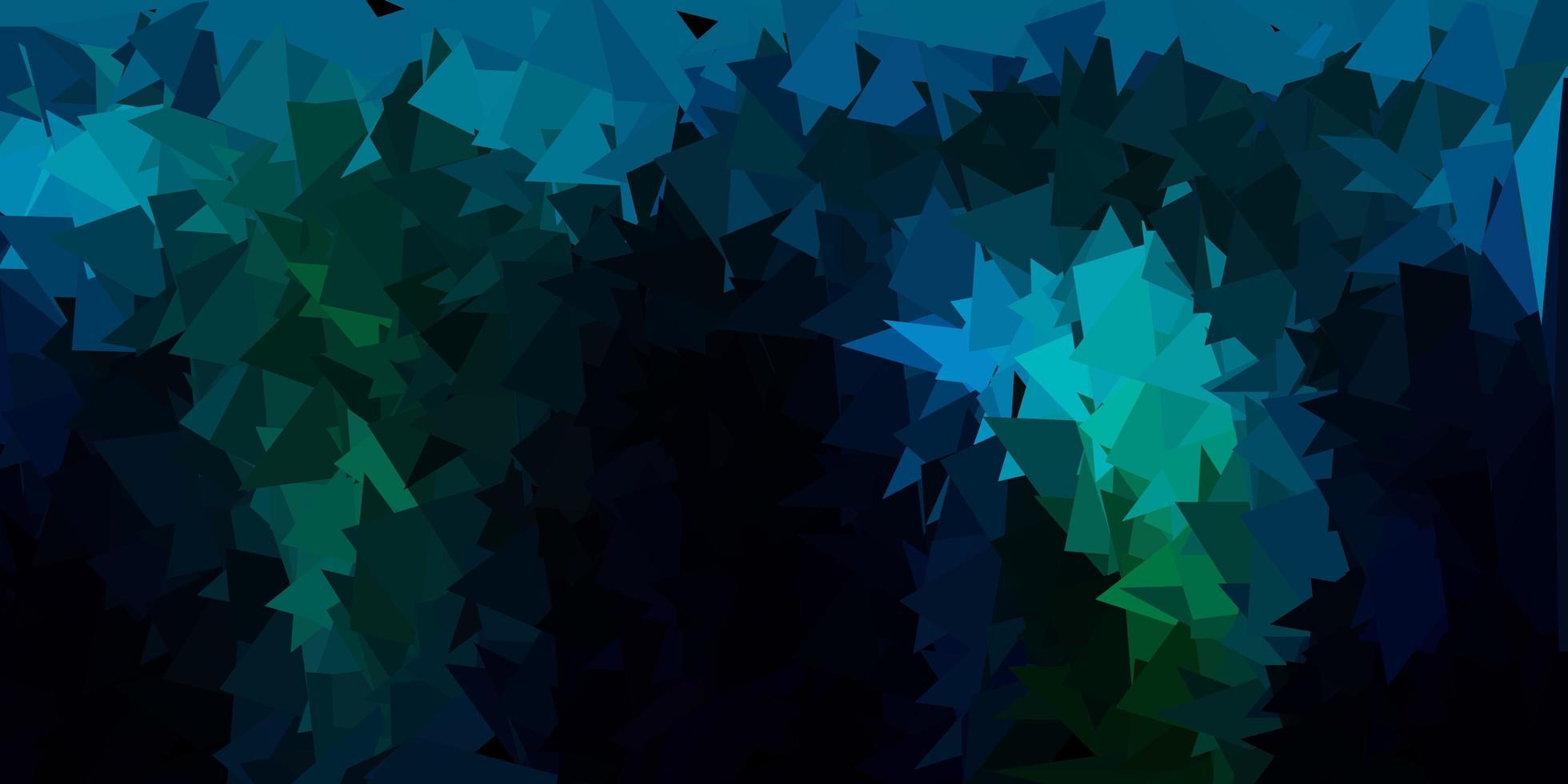 textura de triángulo de poli vector azul oscuro, verde.