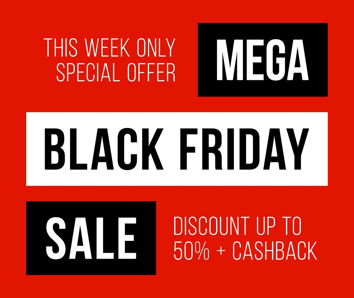 Sale poster black friday sale. Black Friday Sale with discount 50 percent off. Commercial discount event banner. vector