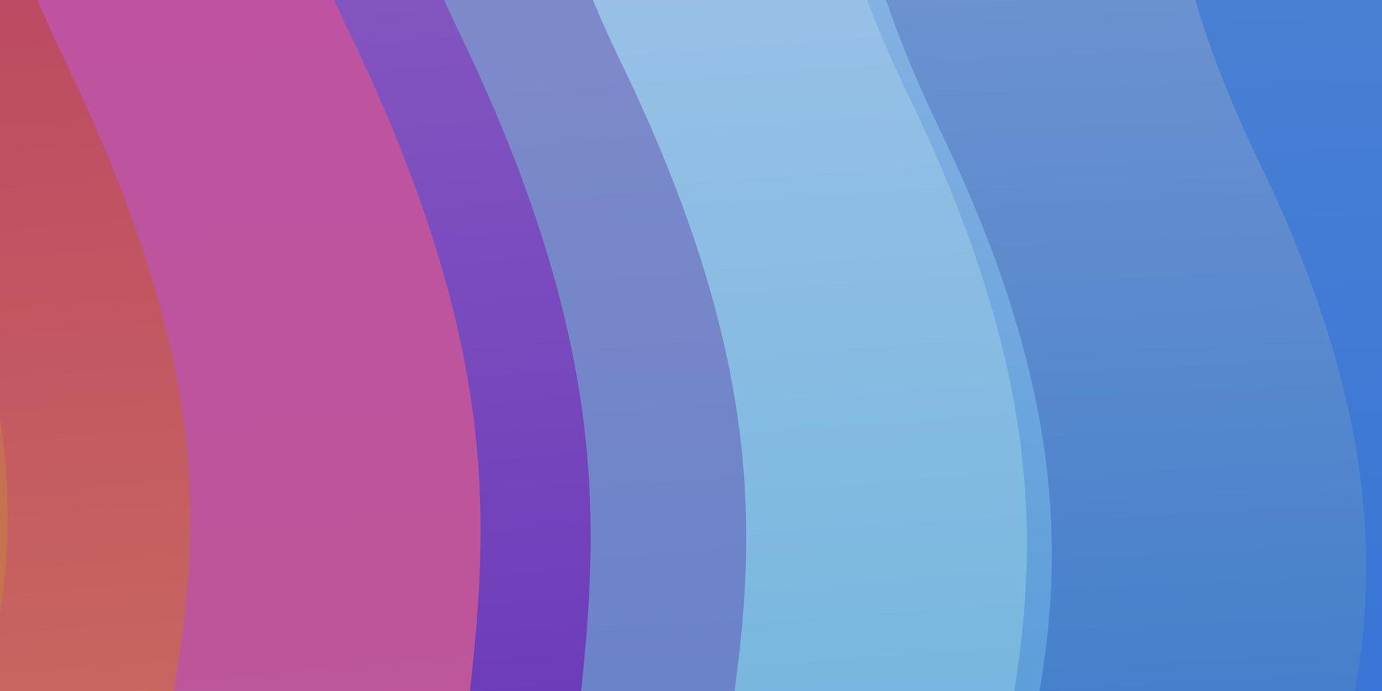 patrón de vector azul claro, rojo con líneas torcidas.