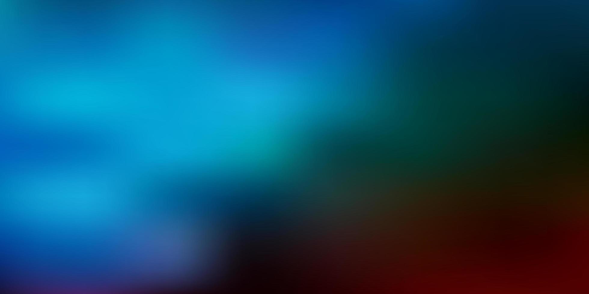 patrón de desenfoque degradado de vector azul claro, rojo.