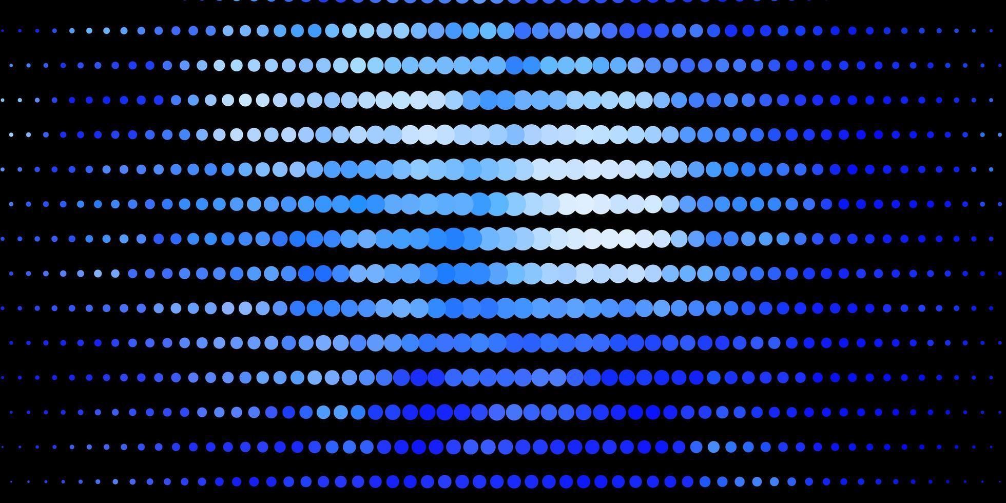 Dark BLUE vector backdrop with dots.