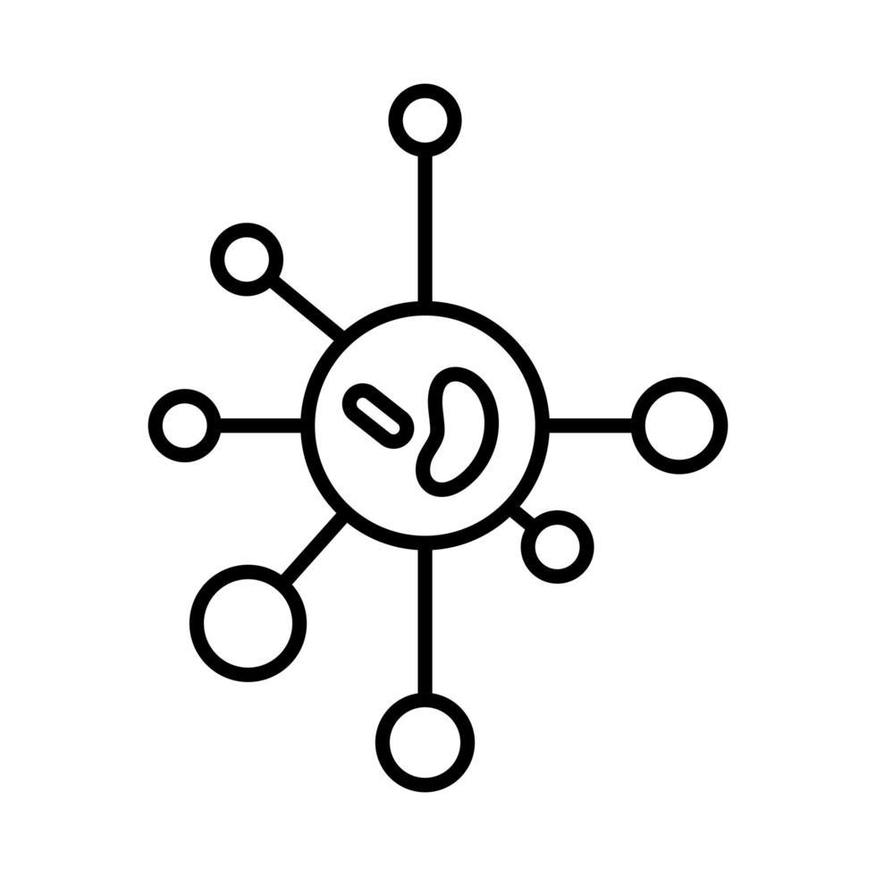 icono de línea de coronavirus vector