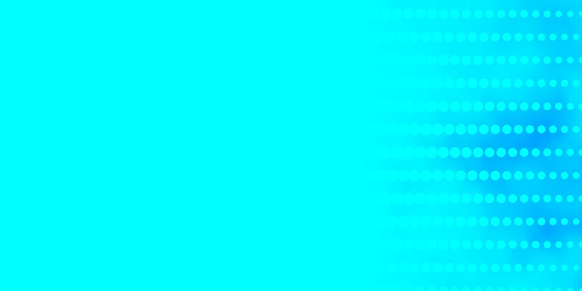 Telón de fondo de vector azul claro con círculos.