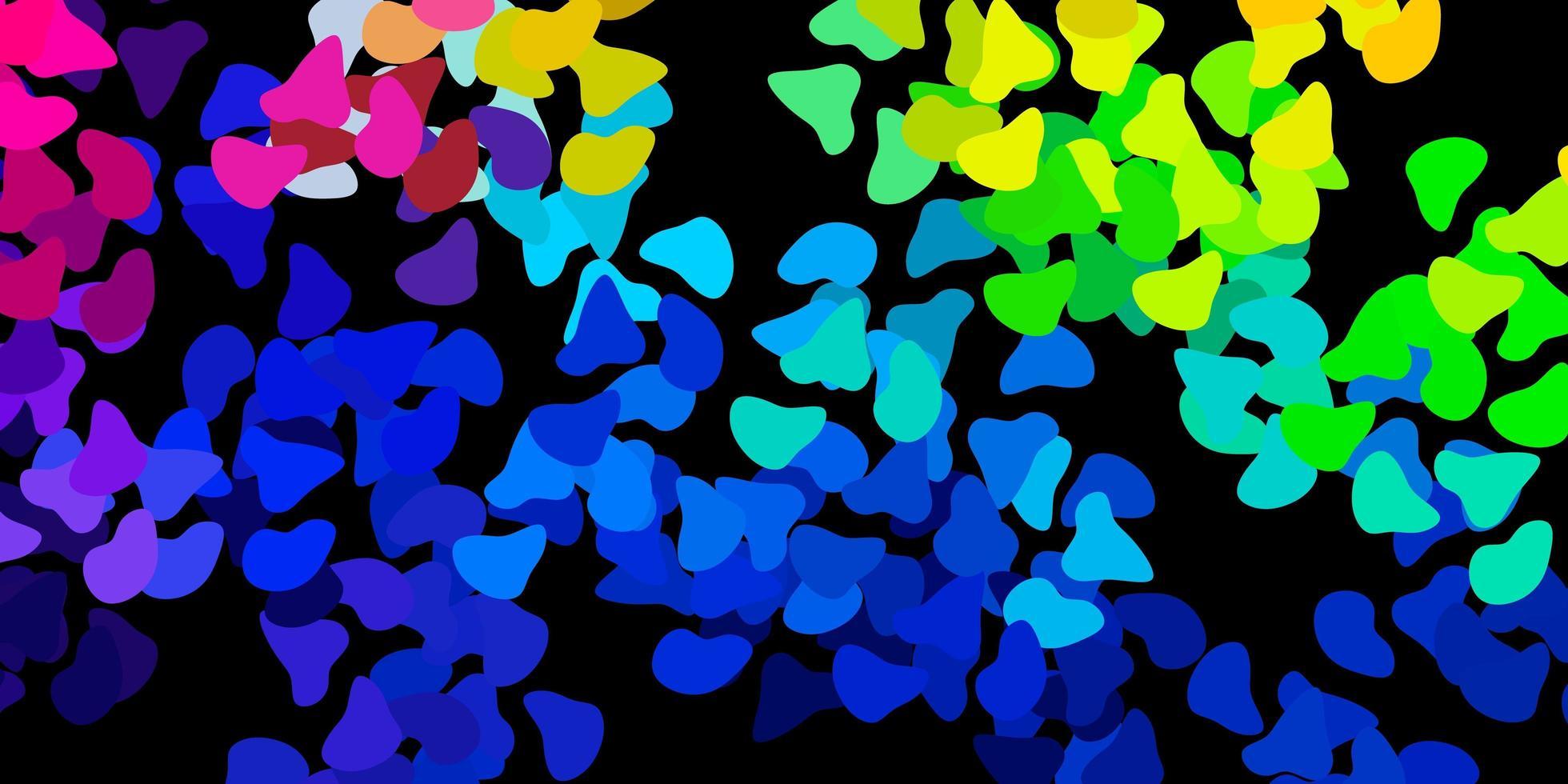 textura de vector multicolor oscuro con formas de memphis