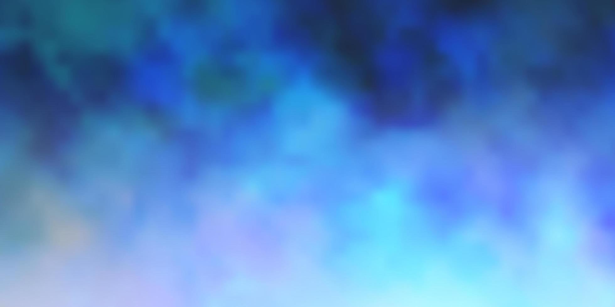 Telón de fondo de vector azul oscuro con cúmulos.