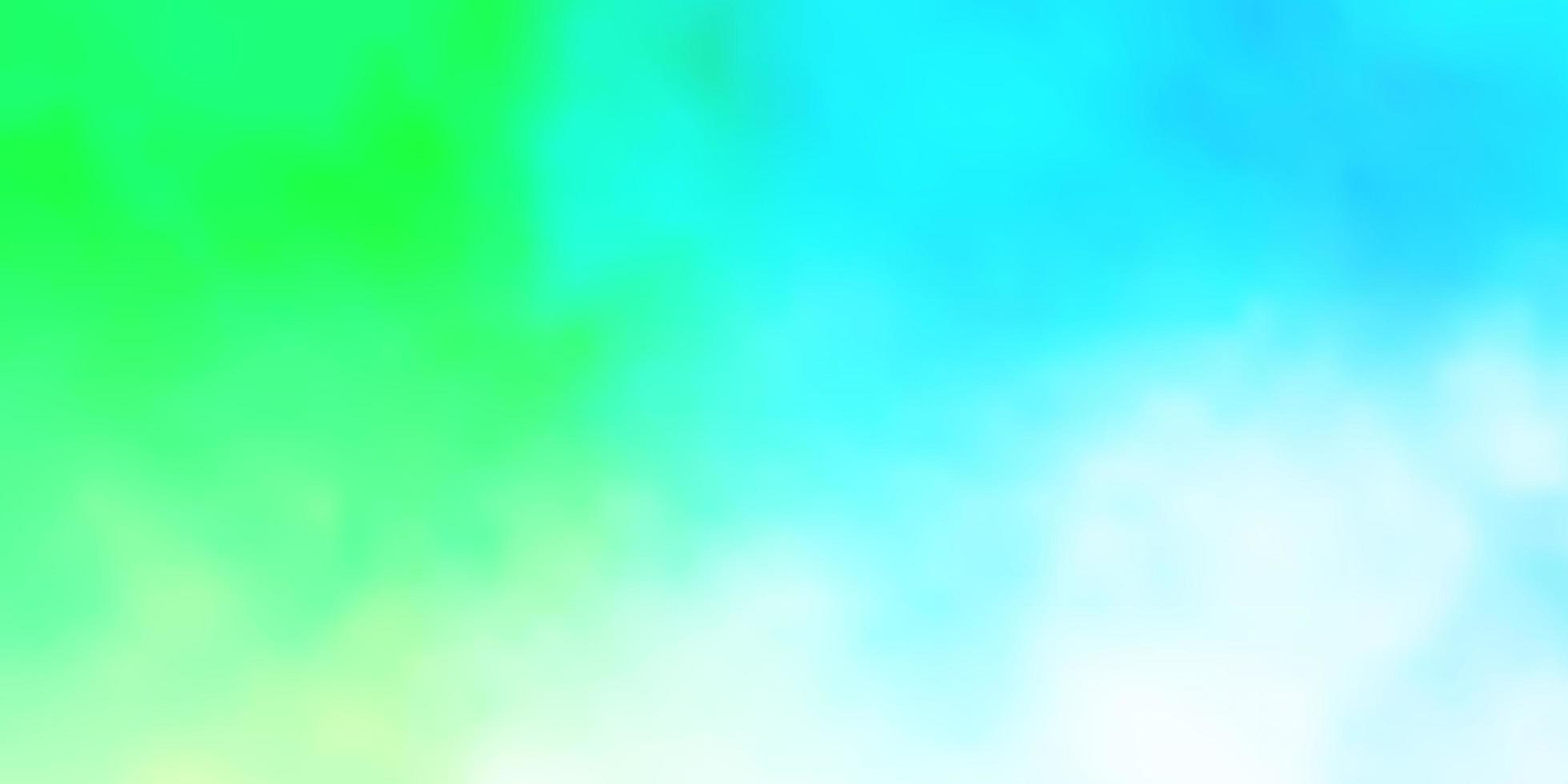 Light Blue, Green vector pattern with clouds.