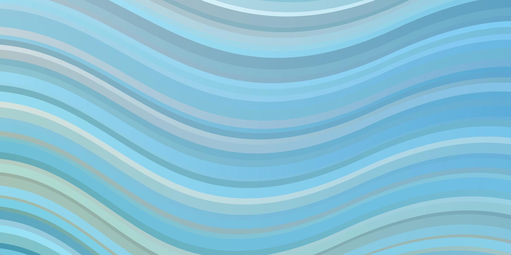textura de vector azul claro, verde con líneas torcidas.