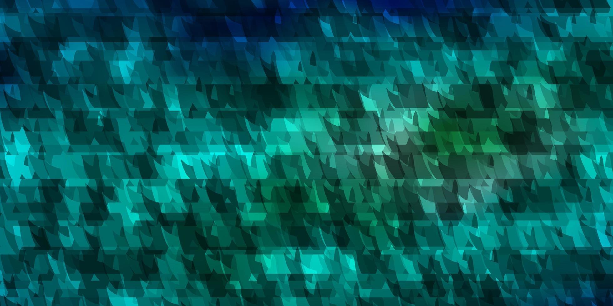 diseño de vector azul claro con líneas, triángulos.