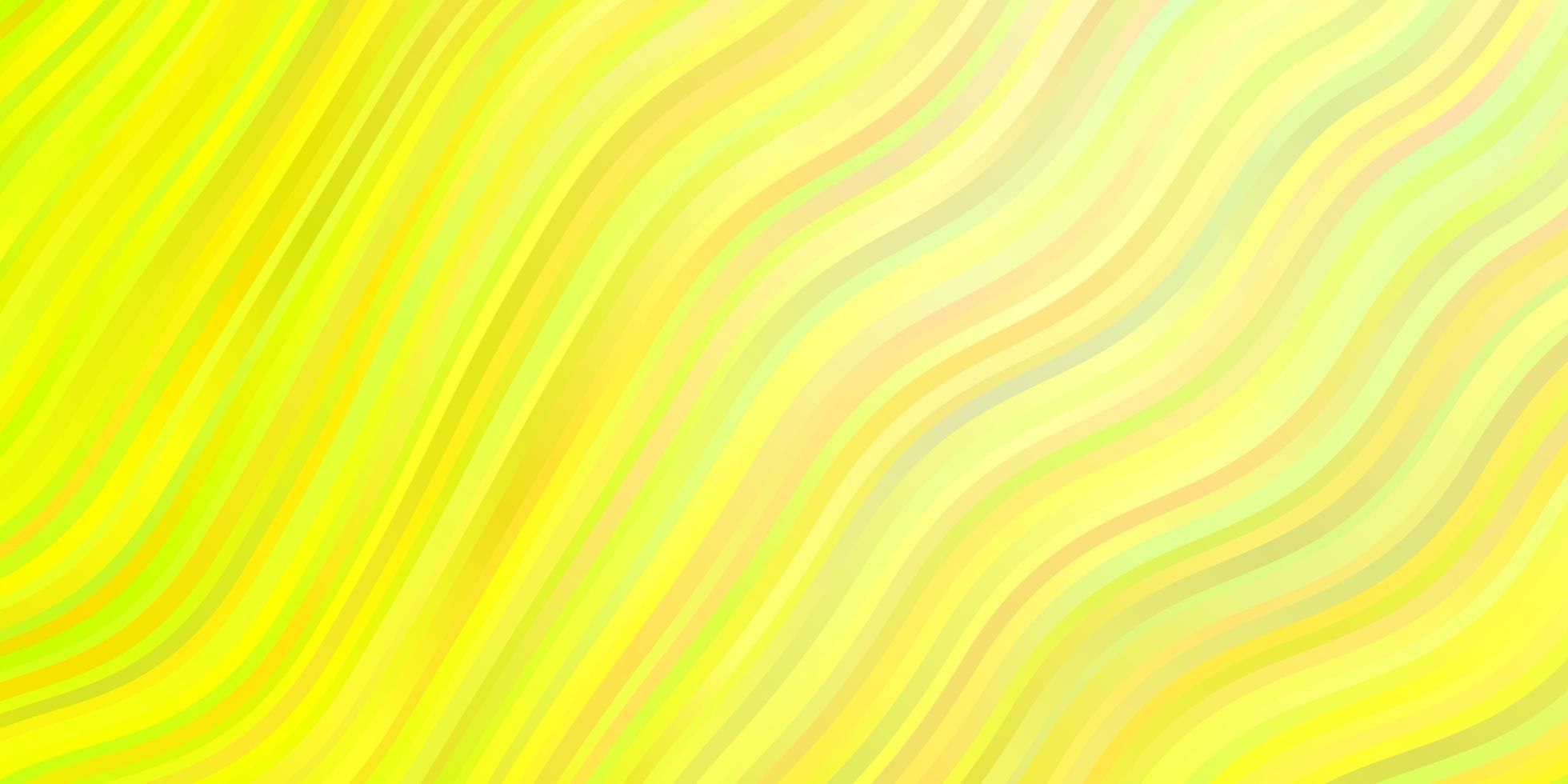Light Green, Yellow vector texture with circular arc.