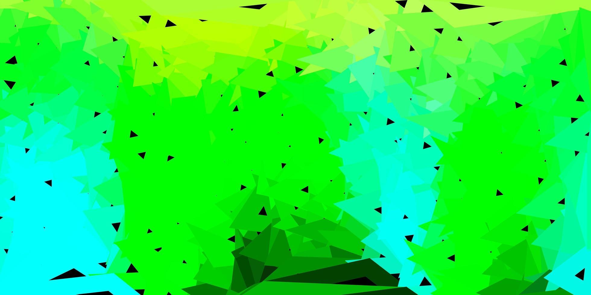 patrón poligonal de vector azul claro, verde.