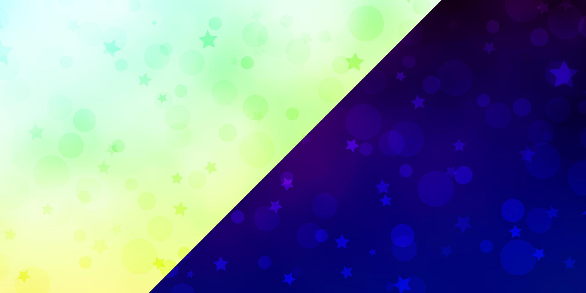 telón de fondo de vector con círculos, estrellas.