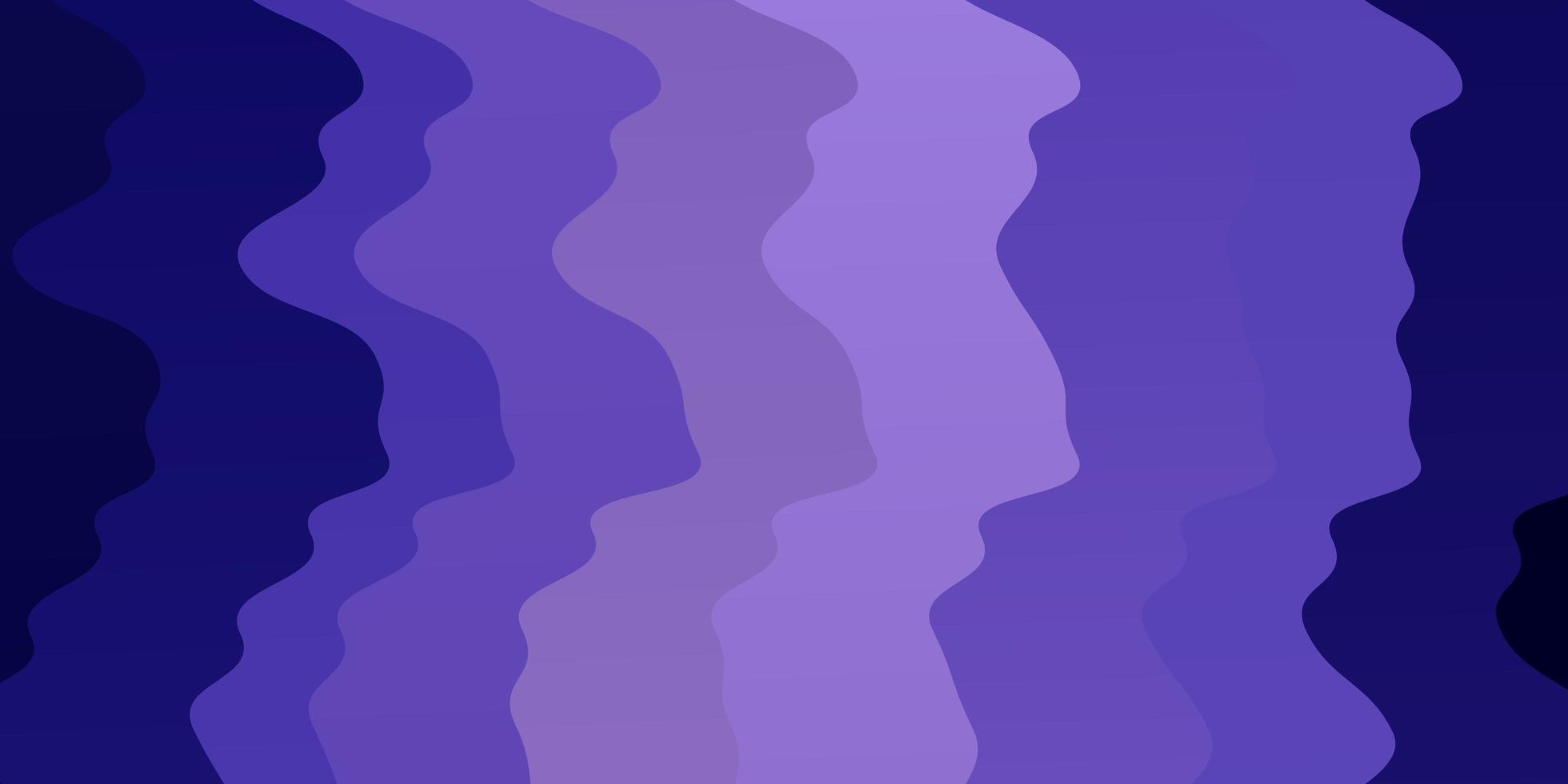 Fondo de vector púrpura claro con curvas.