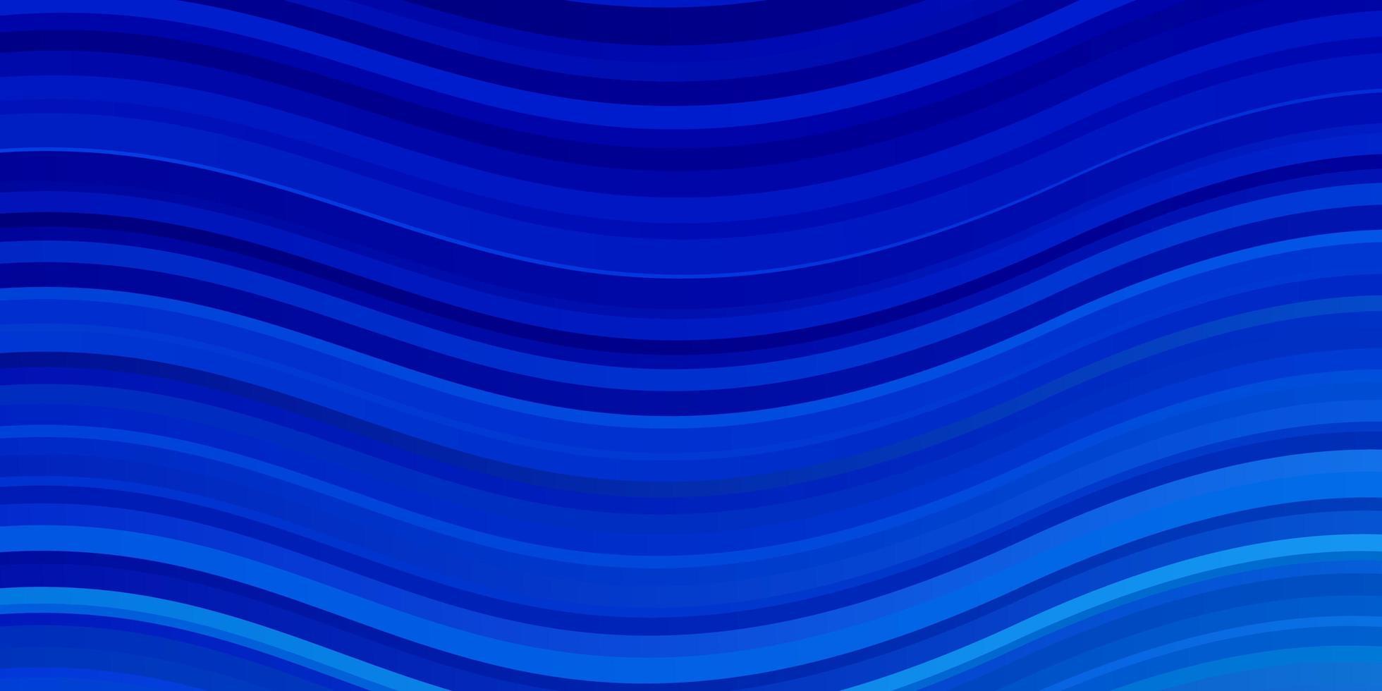 plantilla de vector azul claro con líneas curvas.