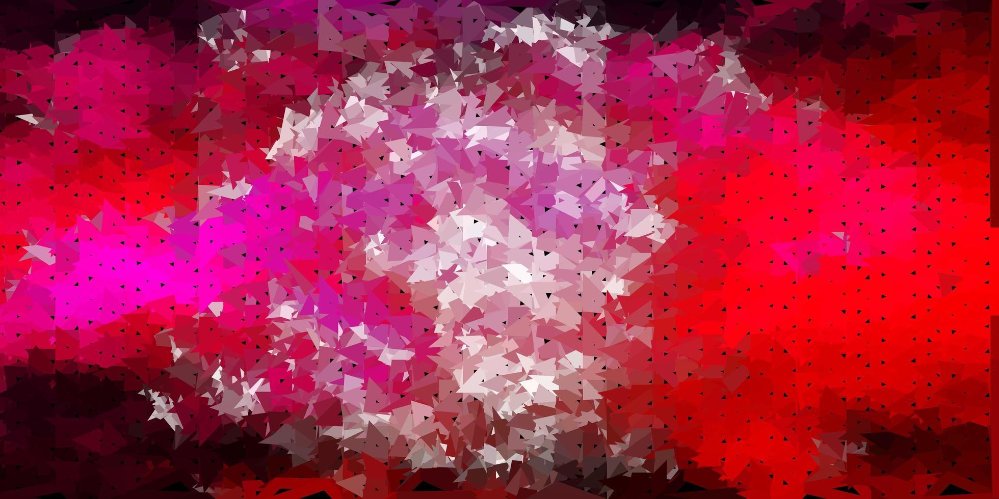 diseño de polígono degradado vectorial rosa claro. vector