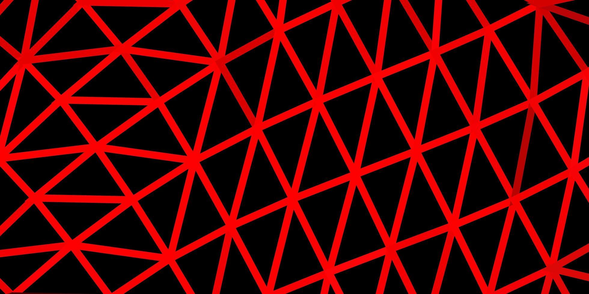 plantilla de mosaico de triángulo vector rojo claro.