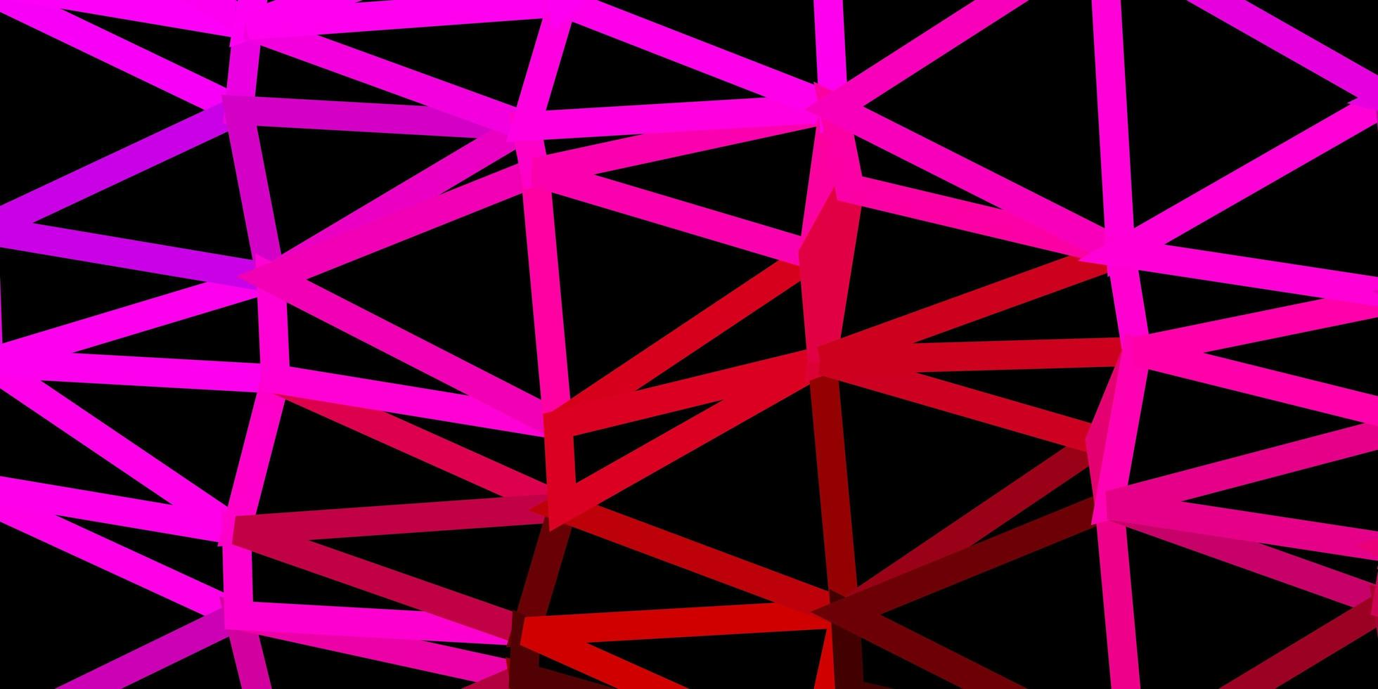 Dark pink vector triangle mosaic design.