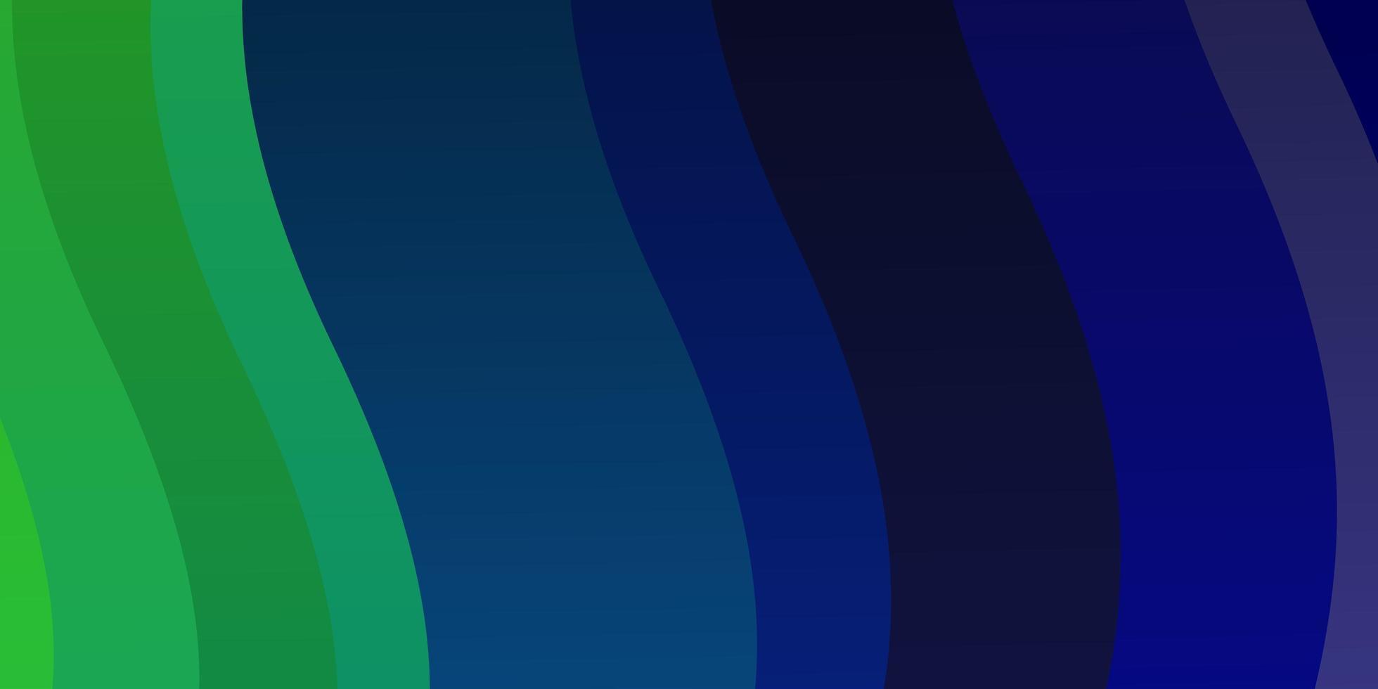 plantilla de vector azul claro, verde con curvas.
