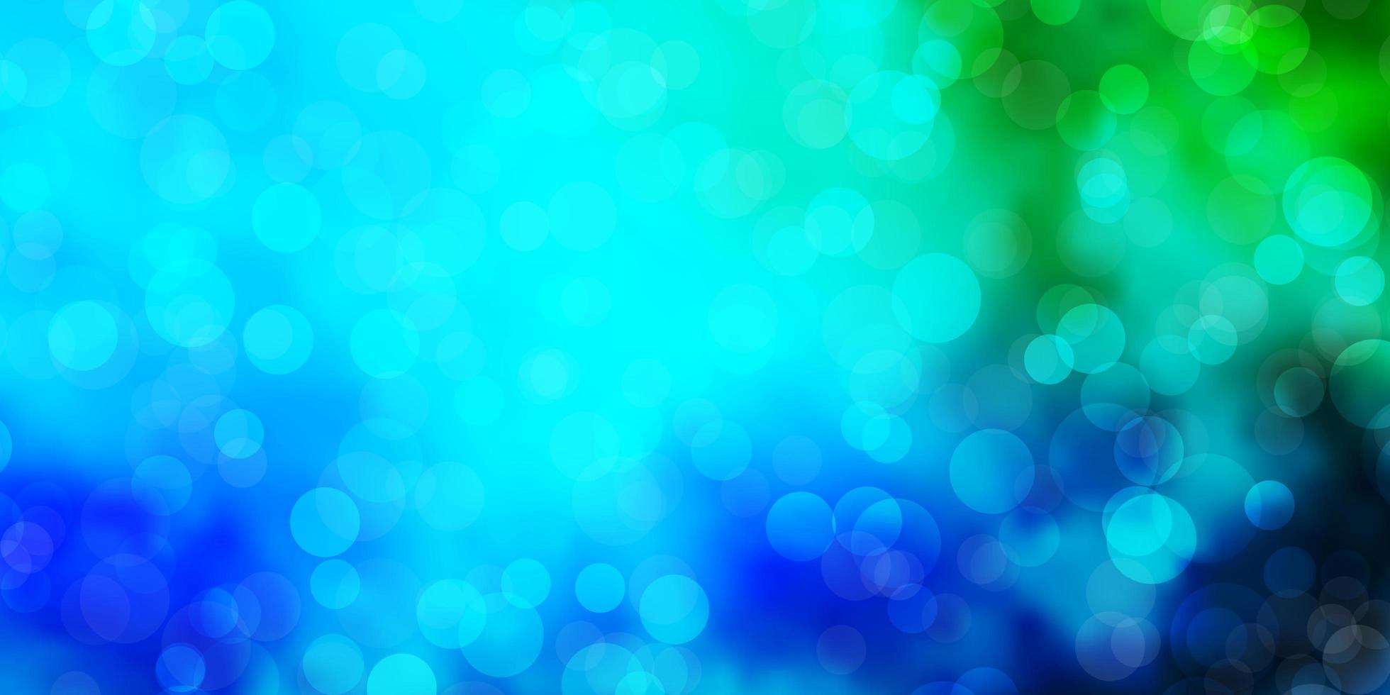 Fondo de vector azul claro, verde con círculos.
