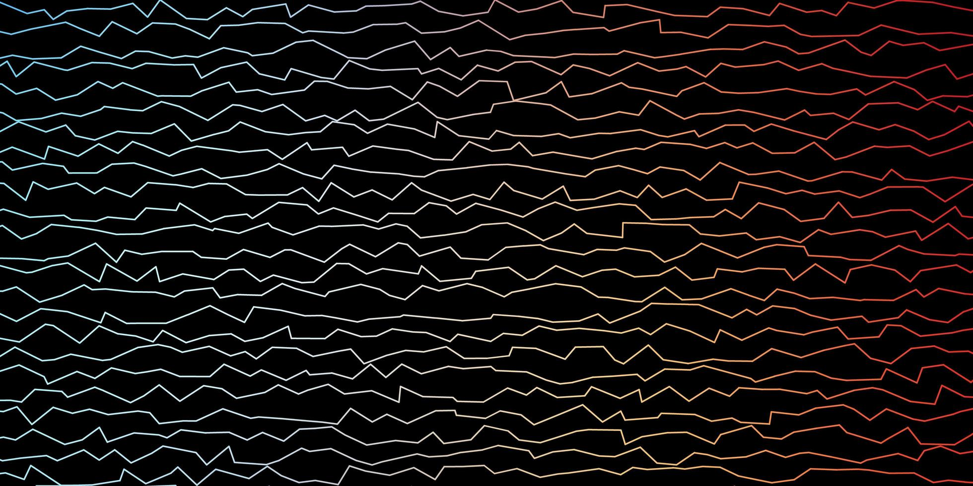 Dark Blue, Red vector texture with wry lines.