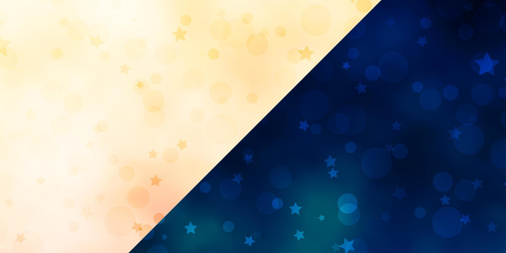 Vector backdrop with circles, stars.